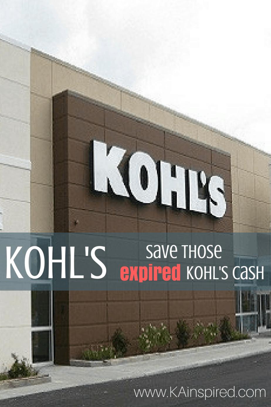 Kohl's Hack – Save those Expired Kohl's Cash