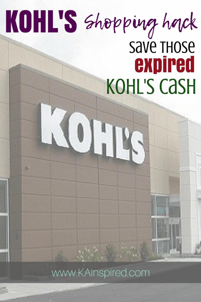 KOHL'S HACK - EXPIRED KOHL'S CASH