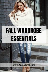 Fall Wardrobe Essentials #fall #falloutfit #fallfashion #fashion #fashionideas #boots #booties #sweaters #jeans #jacket #casualoutfit