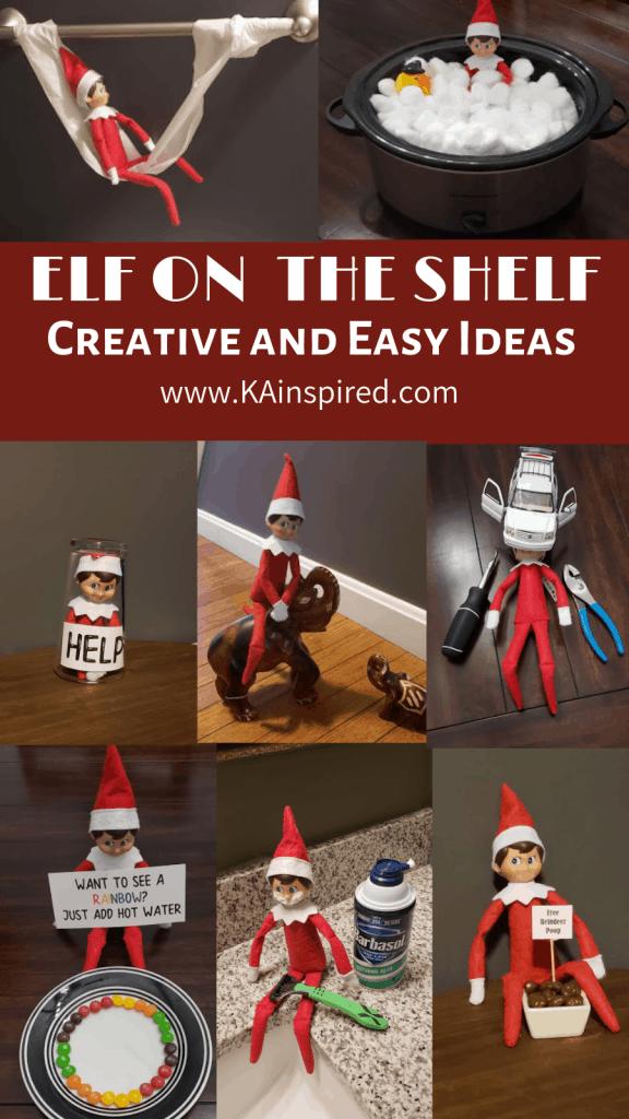 Creative Elf on the shelf easy and creative ideas