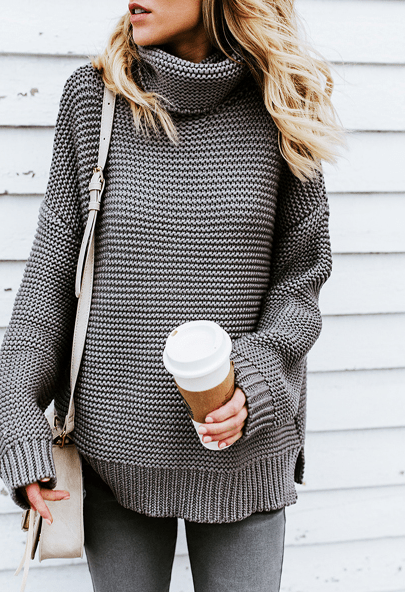 COMFY SWEATER FOR FALL - Oversized pullover sweater