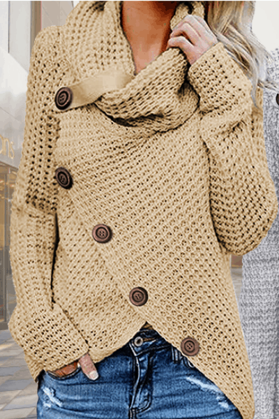 COMFY SWEATER FOR FALL - turtle cowl neck wrap sweater