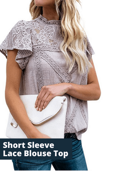 Short Sleeve lace Blouse top | summer fashion