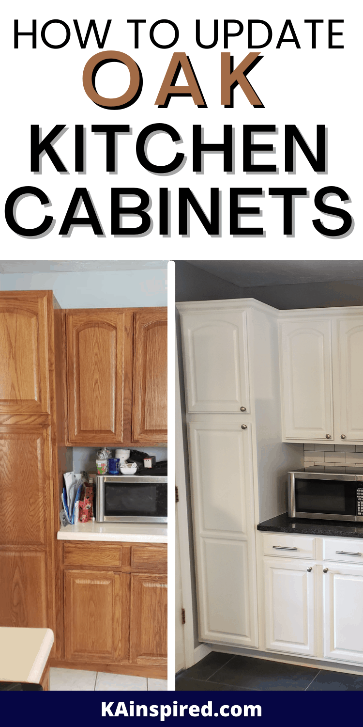 How To Update Oak Kitchen Cabinets Kainspired