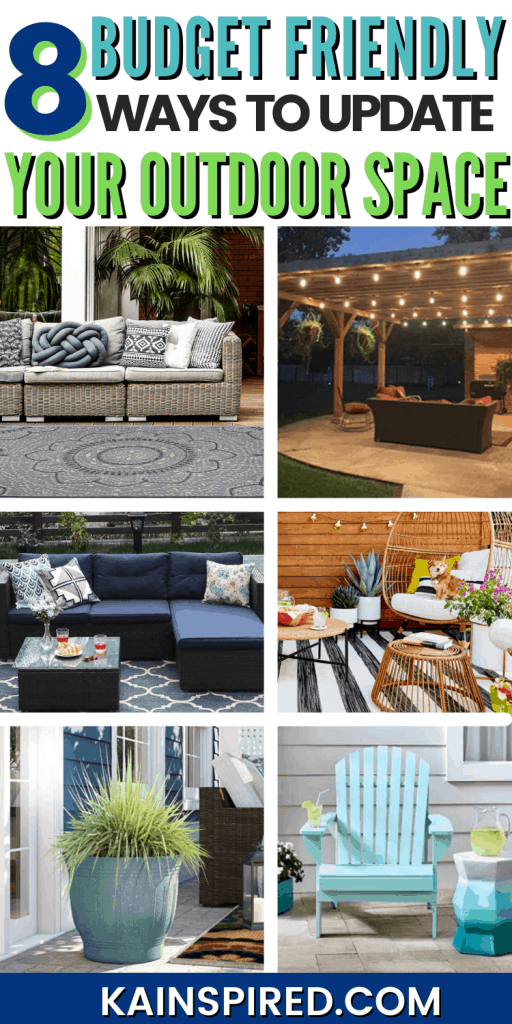 8 budget friendly ways to update your outdoor space