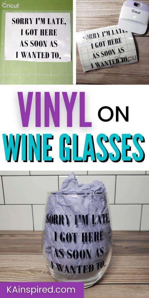 VINYL ON WINE GLASSES