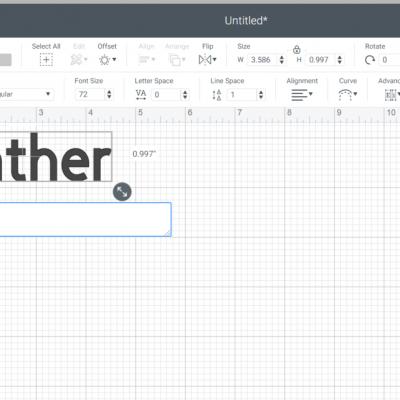 Font Kerning Cricut Design Space