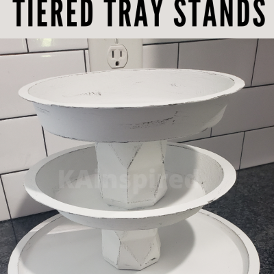 DIY DOLLAR TREE TIERED TRAY STANDS