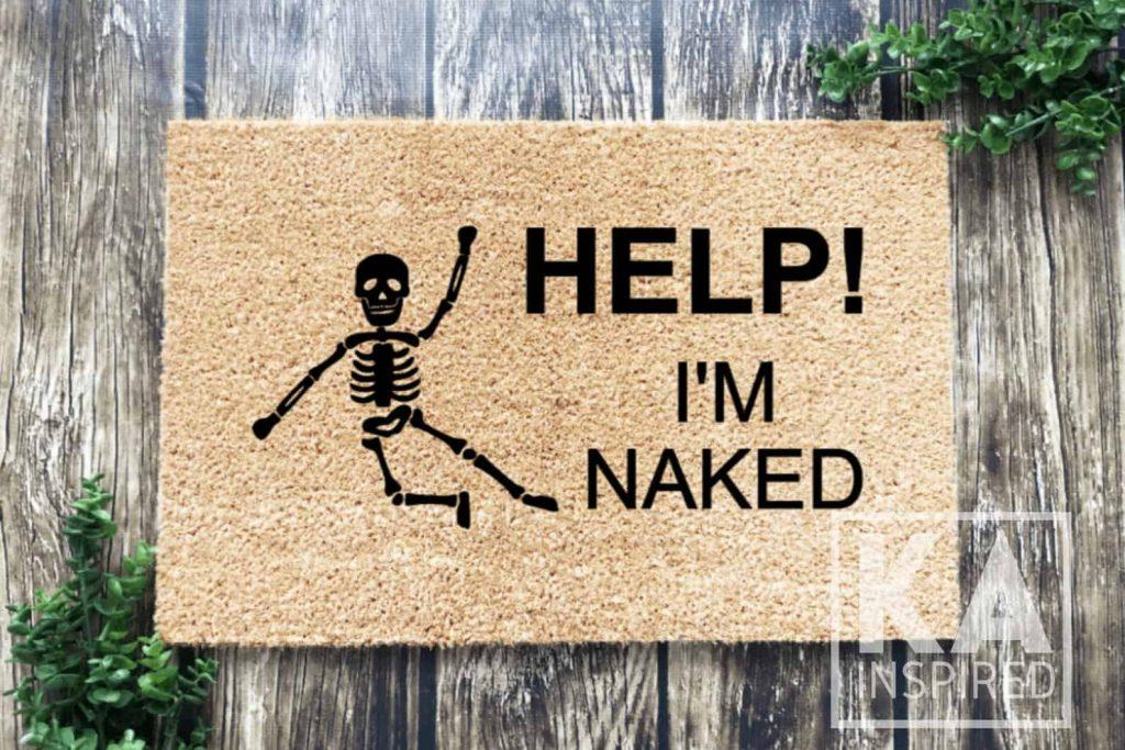 Funny Skeleton Doormat