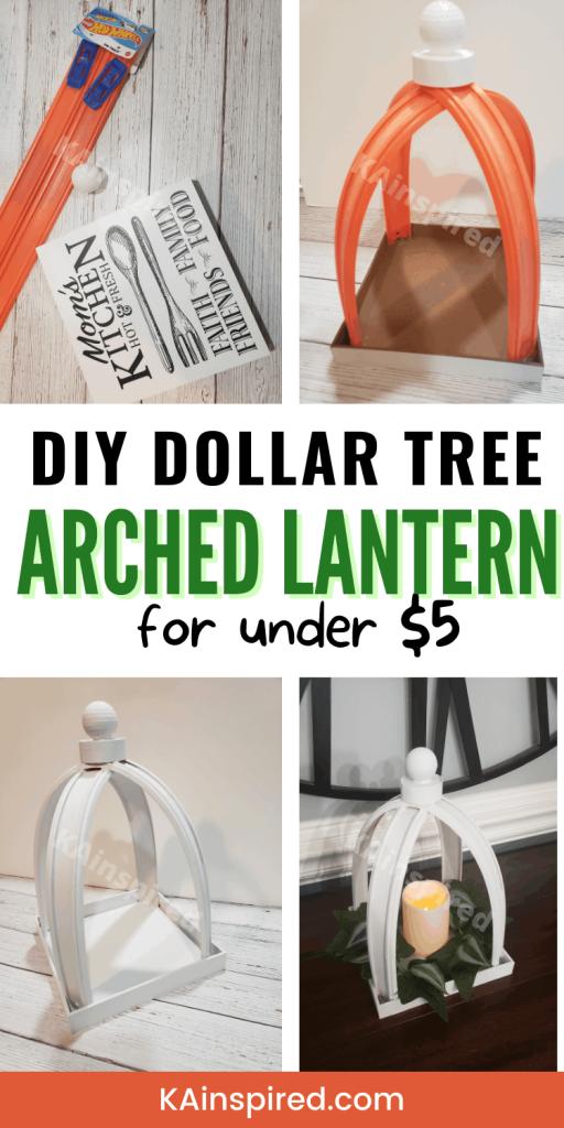 DIY Dollar Tree Arched Lantern