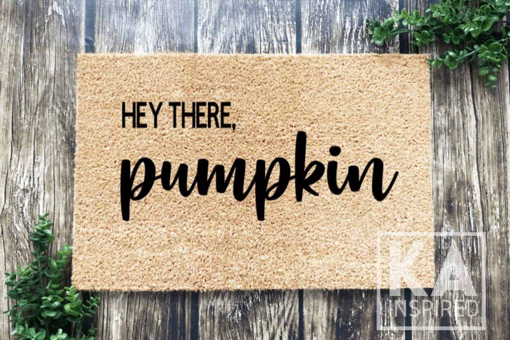 Hey there, Pumpkin Doormat