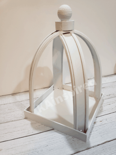 painted Dollar Tree Arched Lantern