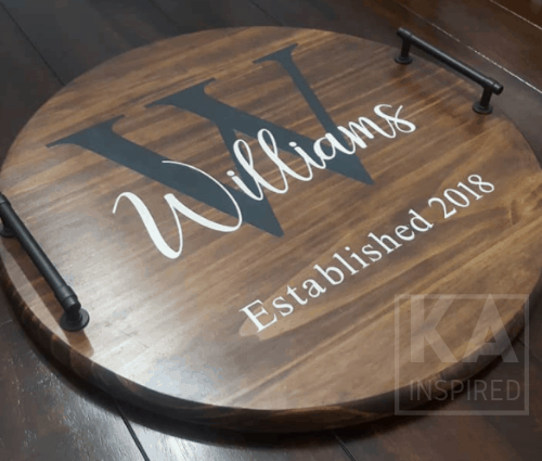 PERSONALIZED SERVING TRAYS