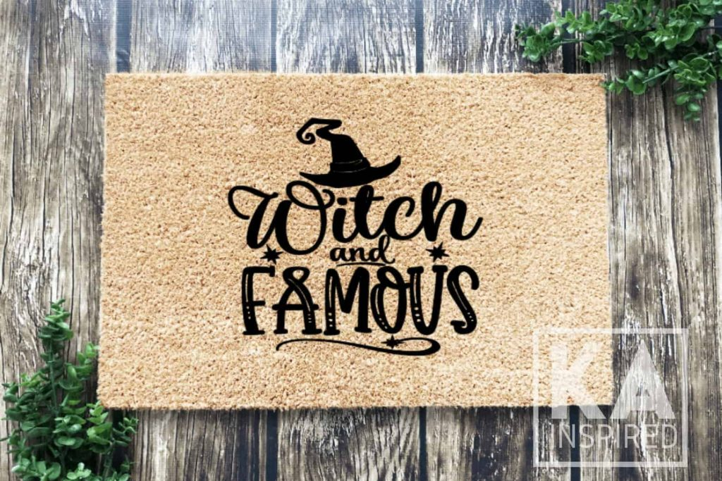 Witch and Famous Halloween Doormat