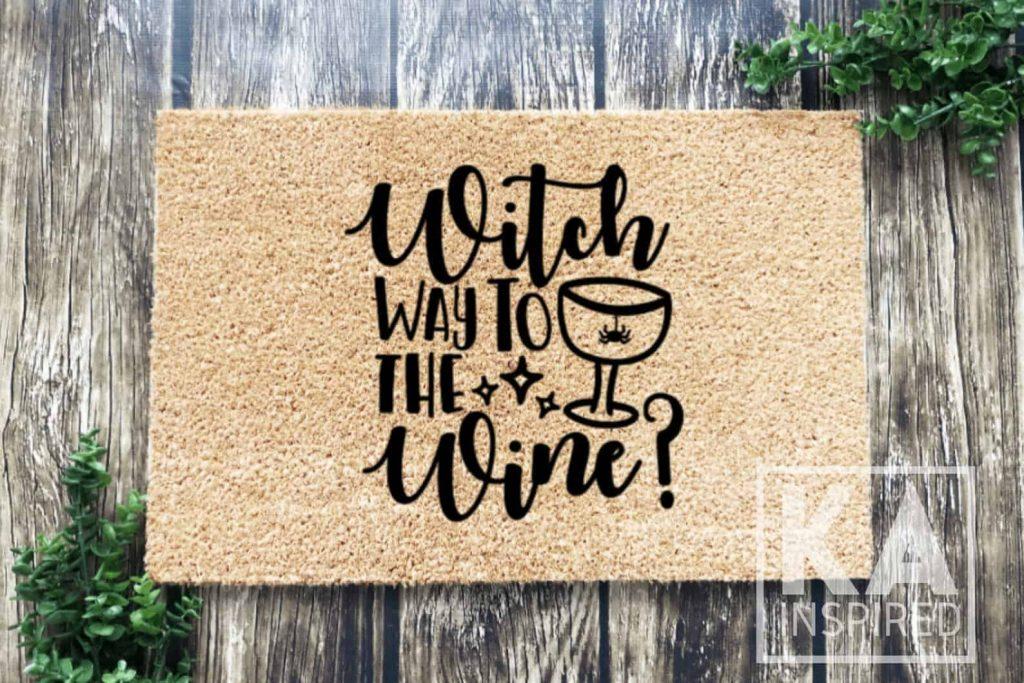Witch way to the Wine Doormat
