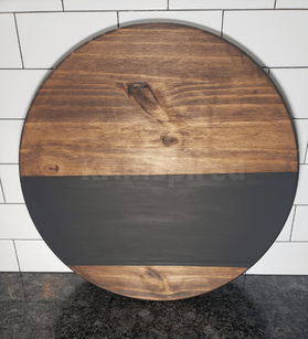 Stained and Painted Round Wood