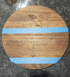 Stained Round Wood